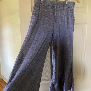 Banana Republic Linen high waisted Wide Leg pants